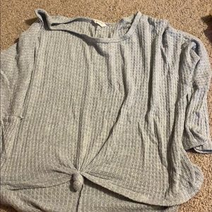 Sweaters - Grey cropped sweater